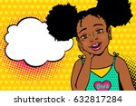 wow pop art kids face. happy... | Shutterstock .eps vector #632817284
