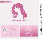 business cards design.... | Shutterstock .eps vector #632824238