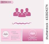 business cards design.vector... | Shutterstock .eps vector #632824274