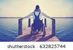 disabled man sitting in... | Shutterstock . vector #632825744
