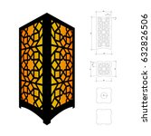 cut out template for lamp ...   Shutterstock .eps vector #632826506