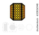 cut out template for lamp ... | Shutterstock .eps vector #632826548