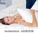 happy young beautiful  woman... | Shutterstock . vector #63282928
