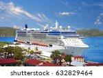 cruise ship docked in saint... | Shutterstock . vector #632829464