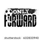 vector football illustration in ... | Shutterstock .eps vector #632833940