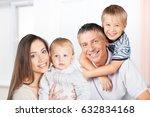 family in room. | Shutterstock . vector #632834168