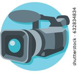 video camera vector icon | Shutterstock .eps vector #632834834