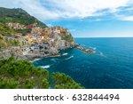 colorful village  manarola ...   Shutterstock . vector #632844494