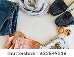 spring summer set  ladies'...   Shutterstock . vector #632849216