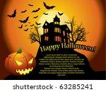 halloween background with... | Shutterstock . vector #63285241