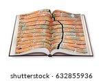 deep crack in old brick wall  ... | Shutterstock . vector #632855936