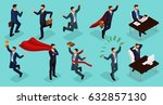 isometric people  3d young... | Shutterstock .eps vector #632857130