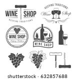 wine objects  accessories and... | Shutterstock .eps vector #632857688