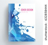 book cover design template with ... | Shutterstock .eps vector #632858444
