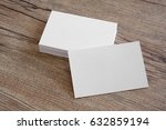 blank business cards on a... | Shutterstock . vector #632859194