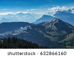 aerial view of the alps... | Shutterstock . vector #632866160