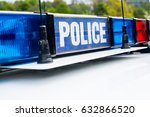 Small photo of Police Lights On Patrol Car