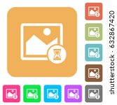 image processing flat icons on... | Shutterstock .eps vector #632867420
