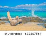 chrisi  chrysi  island beach... | Shutterstock . vector #632867564