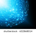 best internet concept of global ... | Shutterstock . vector #632868014