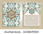 vector set of colorful brochure ... | Shutterstock .eps vector #632869004