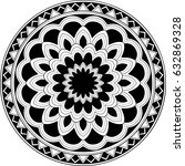 beautiful mandala pattern.... | Shutterstock .eps vector #632869328