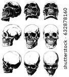 vector set of 9 cool realistic... | Shutterstock .eps vector #632878160