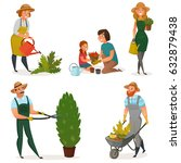 Colored Gardening Hobby Icon...