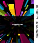 fly colorful 3d cubes vector... | Shutterstock .eps vector #63288040