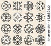 arabesque ornaments. vector... | Shutterstock .eps vector #632882630