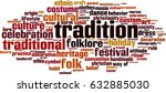 tradition word cloud concept.... | Shutterstock .eps vector #632885030