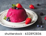 traditional summer pudding... | Shutterstock . vector #632892836