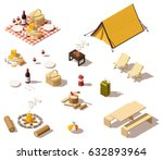 vector isometric low poly... | Shutterstock .eps vector #632893964