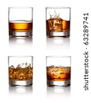glass of scotch whiskey and ice ...   Shutterstock . vector #63289741