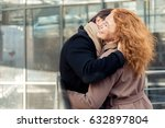 passionate loving couple... | Shutterstock . vector #632897804