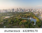scenic view of lumpini ... | Shutterstock . vector #632898170