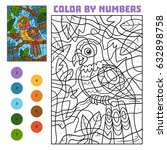 color by number  education game ... | Shutterstock .eps vector #632898758