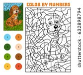 color by number  education game ... | Shutterstock .eps vector #632898794