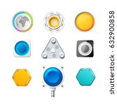 set of nine colorful realistic... | Shutterstock .eps vector #632900858