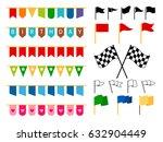 vector flag garlands and start... | Shutterstock .eps vector #632904449