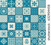 ceramic tile set. vintage...   Shutterstock .eps vector #632904458