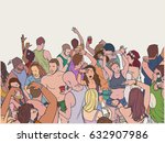 illustration of dancing... | Shutterstock .eps vector #632907986