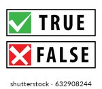 true and false rubber stamps or ...