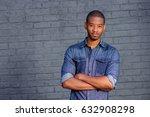 portrait of handsome young...   Shutterstock . vector #632908298