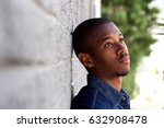 close up side portrait of... | Shutterstock . vector #632908478