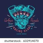 biker club emblem for t shirt.... | Shutterstock .eps vector #632914070