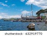 the replica of ancient greek... | Shutterstock . vector #632919770