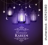 ramadan kareem  greeting... | Shutterstock .eps vector #632925083
