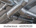 ventilation pipe system in... | Shutterstock . vector #632929220