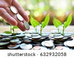 coins growth up to interest...   Shutterstock . vector #632932058